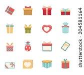 gift box icons vector eps10 | Shutterstock .eps vector #204581164