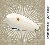 huge dirigible on a vintage... | Shutterstock .eps vector #2045859