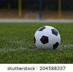 leather soccer ball on a... | Shutterstock . vector #204588337