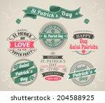 set of calligraphic elements... | Shutterstock . vector #204588925
