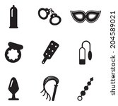 adult sex toys icons | Shutterstock .eps vector #204589021