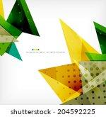 vector 3d geometric shape... | Shutterstock .eps vector #204592225