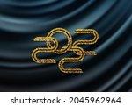 luxurious  silk  wavy...   Shutterstock .eps vector #2045962964