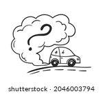 cartoon car blowing exhaust...   Shutterstock .eps vector #2046003794