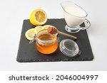 Glass Jar With Sweet Honey ...