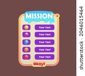 game ui pop up window mission...