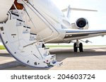 stairs with jet engine on a... | Shutterstock . vector #204603724