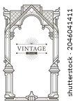 abstract luxury geometric thai... | Shutterstock .eps vector #2046041411