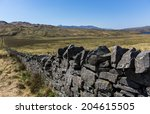 Dry Stone Wall In Remote Rural...