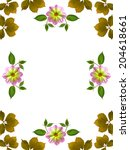 floral frame on white background | Shutterstock . vector #204618661