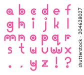 interesting font alphabet.... | Shutterstock .eps vector #204628027