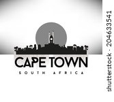 cape town south africa  black... | Shutterstock .eps vector #204633541