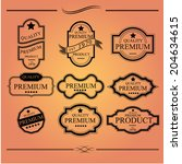 label vintage with premium... | Shutterstock .eps vector #204634615