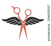 hair salon logo | Shutterstock .eps vector #204635017