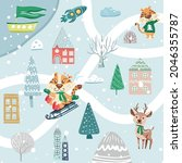 christmas design vector...   Shutterstock .eps vector #2046355787