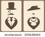 Lady And Gentleman Vintage...