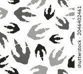 dinosaur footprints seamless... | Shutterstock .eps vector #2046402461