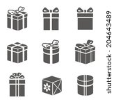 gift box set on white vector | Shutterstock .eps vector #204643489