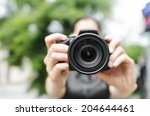 photographer takes pictures in... | Shutterstock . vector #204644461