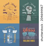 trendy retro vintage insignias... | Shutterstock .eps vector #204644467