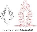 pinstripe graphics   vinyl... | Shutterstock .eps vector #204646201