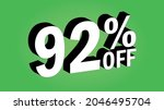 sale tag 92 percent off   3d... | Shutterstock .eps vector #2046495704