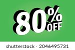 sale tag 80 percent off   3d... | Shutterstock .eps vector #2046495731