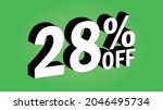 sale tag 28 percent off   3d... | Shutterstock .eps vector #2046495734
