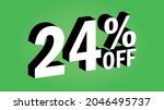 sale tag 24 percent off   3d... | Shutterstock .eps vector #2046495737