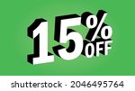 sale tag 15 percent off   3d... | Shutterstock .eps vector #2046495764