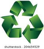 3d recycle symbol | Shutterstock .eps vector #204654529
