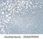 vector snowfall background. | Shutterstock .eps vector #204659404