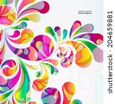 abstract colorful arc drop... | Shutterstock .eps vector #204659881