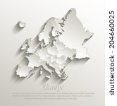 europe political map card paper ... | Shutterstock .eps vector #204660025