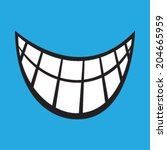 smile cartoon vector icon | Shutterstock .eps vector #204665959