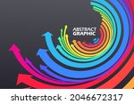 colorful arrows that extend in...   Shutterstock .eps vector #2046672317
