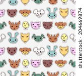 seamless pattern with cute... | Shutterstock .eps vector #204669874