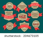 retro label  | Shutterstock .eps vector #204673105