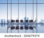 open space modern office   Shutterstock . vector #204679474