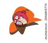 ice cream cone kawaii cute...   Shutterstock .eps vector #2046845774