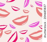 seamless pattern funny smiling... | Shutterstock .eps vector #204685837
