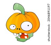zombie face. head of a green...   Shutterstock .eps vector #2046891197