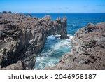 Volcanic Seascape. Rocks...