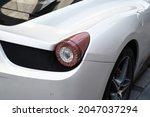 Stoplight Of A White Sports Car ...