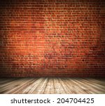 space of vintage grungy paint... | Shutterstock . vector #204704425