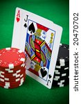 ace of hearts and black jack... | Shutterstock . vector #20470702