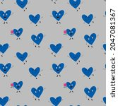 cute seamless pattern with... | Shutterstock .eps vector #2047081367