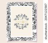romantic wedding invitation... | Shutterstock .eps vector #2047122587