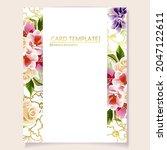 romantic wedding invitation... | Shutterstock .eps vector #2047122611