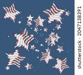 american patriotic stars....   Shutterstock .eps vector #2047138391